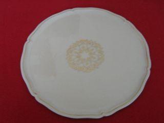 Seltene Kuchenplatte,  Kuchenteller Royal Limoges France Mit Goldmuster Bild