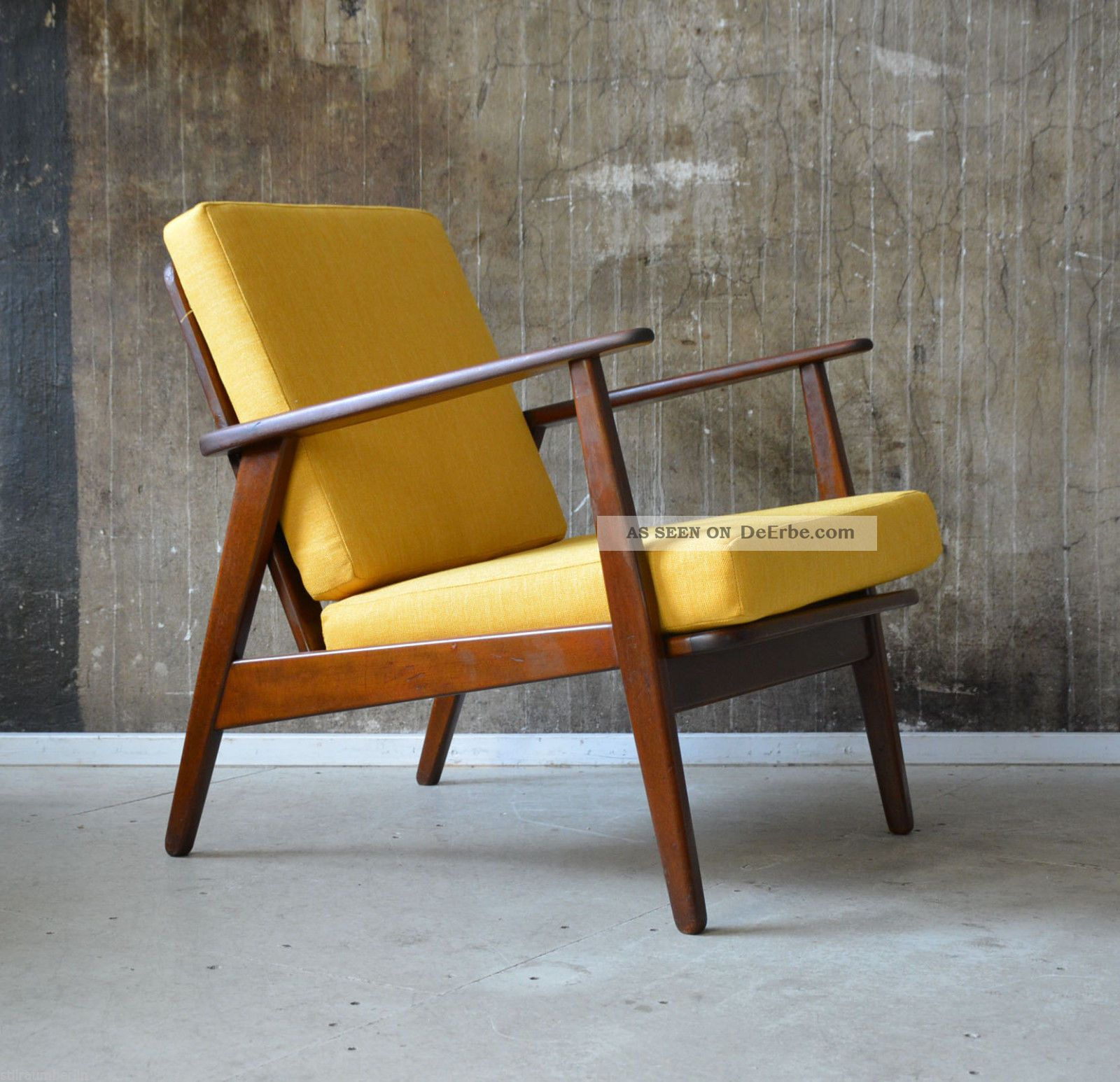 60er teak sessel danish design 60s easy chair vintage