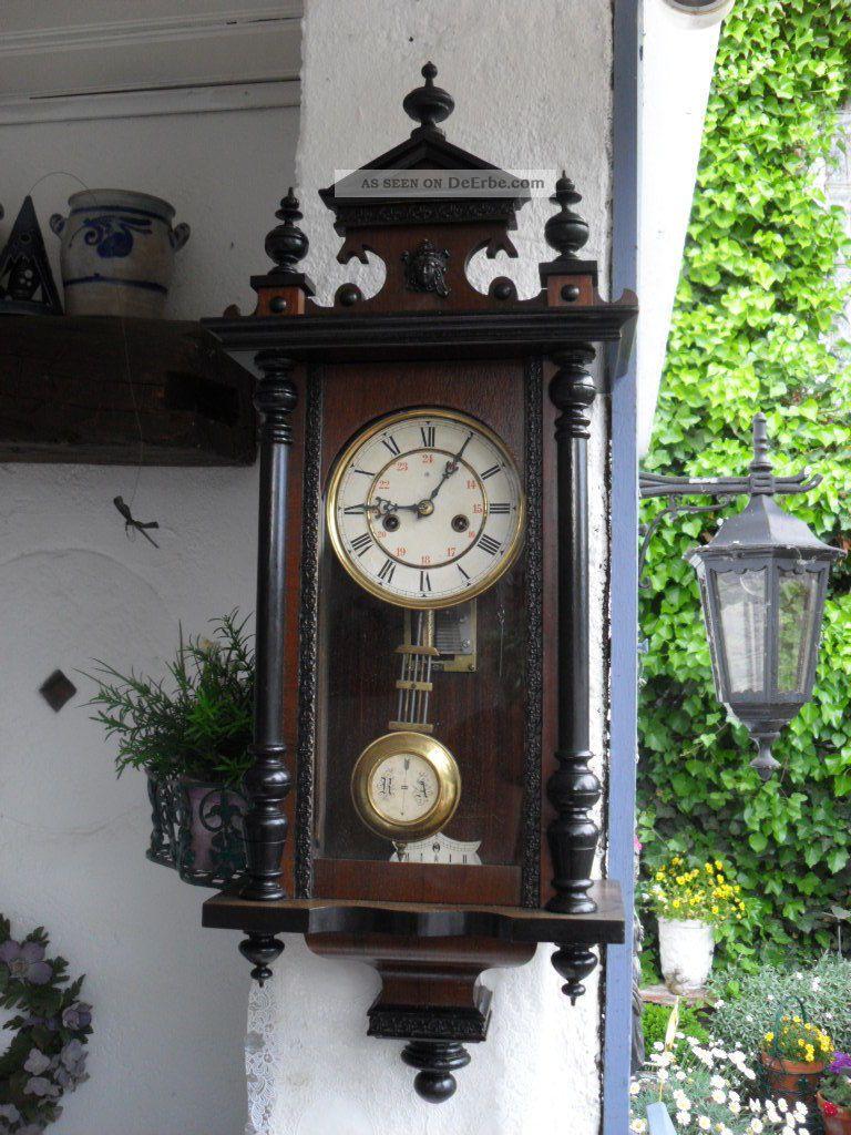Kleine antike junghans wanduhr regulator mit musikwerk um 1915 2 melodien - Antike wanduhren ...