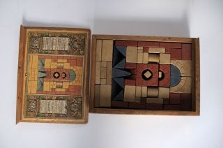 2x Steinbaukasten Anker Nr.  4 (4 1/2),  Nr.  4a - Ergänzungskasten Bild