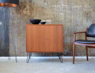 60er Teak Kommode Vintage Midcentury 60s Teakwood Cabinet Eames Knoll ära Bild