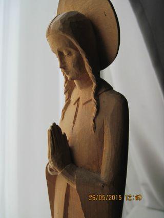 Holzskulptur Schnitzerei,  Betende Für Den Weltfrieden,  Art Déco Unikat Bild