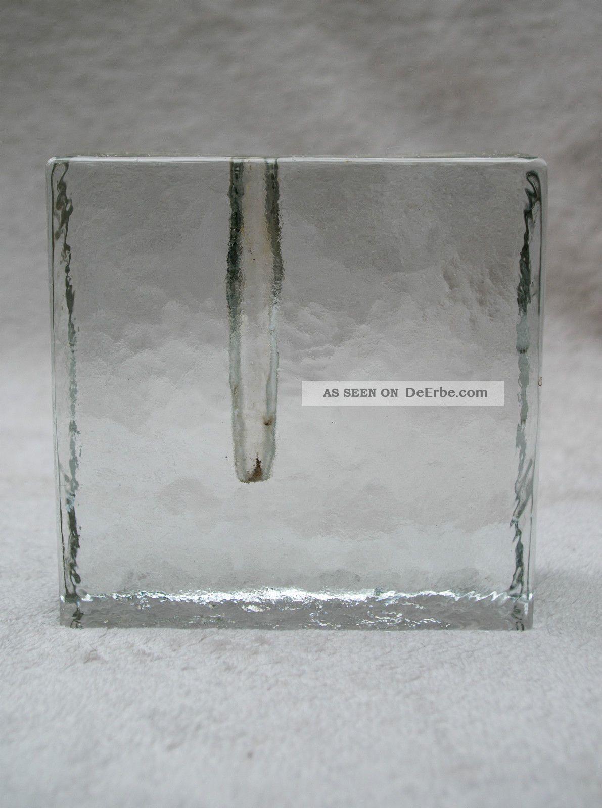 schlichte vintage blockvase designer glas vase 1970er quadratisch 11 5x3 7 cm. Black Bedroom Furniture Sets. Home Design Ideas