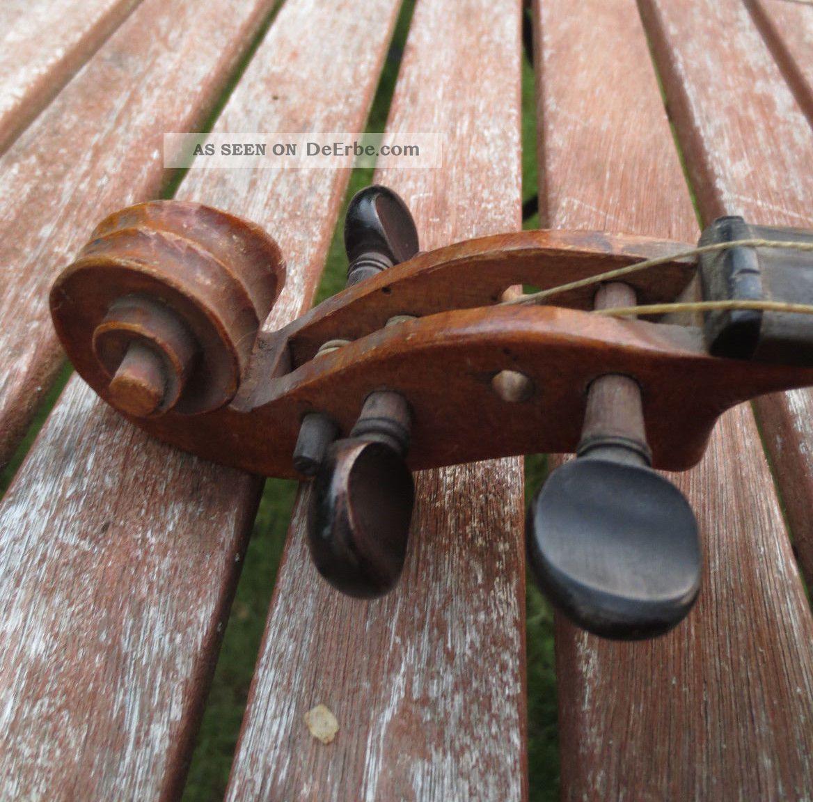 alte geige zum restaurieren deko um 1900 violine. Black Bedroom Furniture Sets. Home Design Ideas