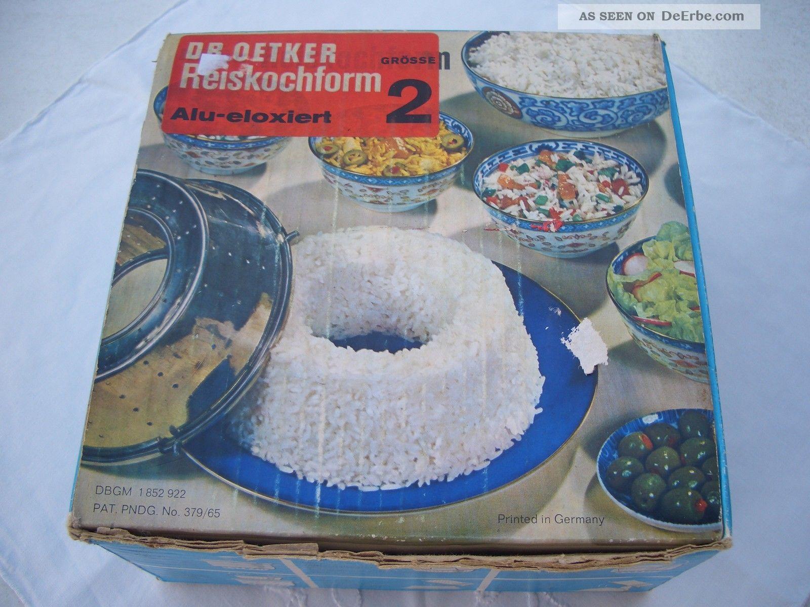 Alte Dr Oetker Reiskochform Dbgm Größe 2 Für 275g Reis Alu Haushalt Bild