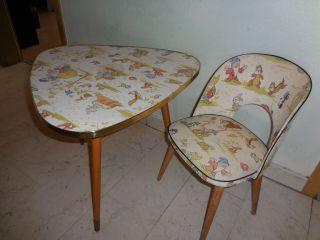 Antikmöbel,  Nierentisch,  Mit Stuhl,  Kindermöbel Bild