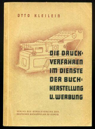 F2b Druckverfahren Buchherstellung Werbung Otto Kleilein Buchdruck Typographie Bild