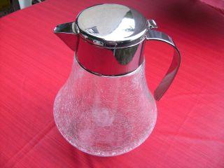 Kalte Ente Karaffe Saftkrug Glas Kanne 3 Liter Craquele Bild