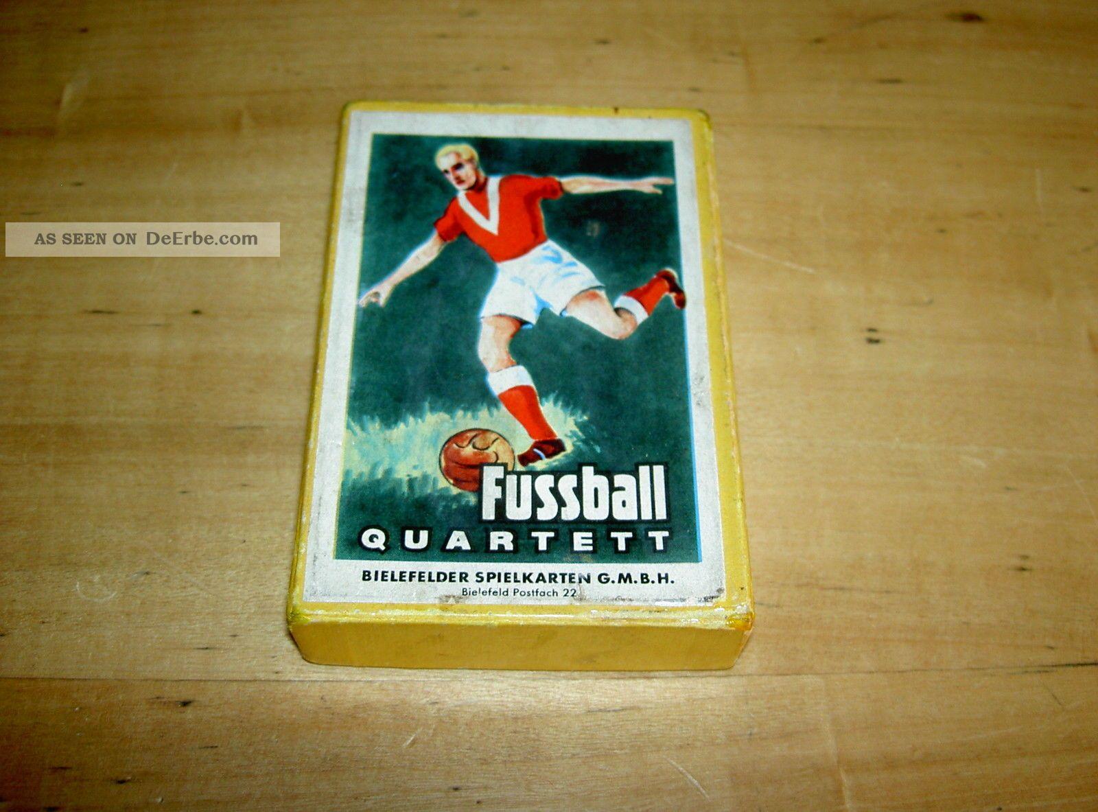 Bielefelder Spielkarten Fussball Quartett Kompl Ovp