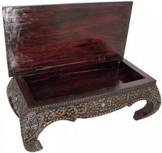 Opiumtisch Aufklappbar Couchtisch Beistelltisch Asia Tisch Thai 80x40cm R ' 6 Bild