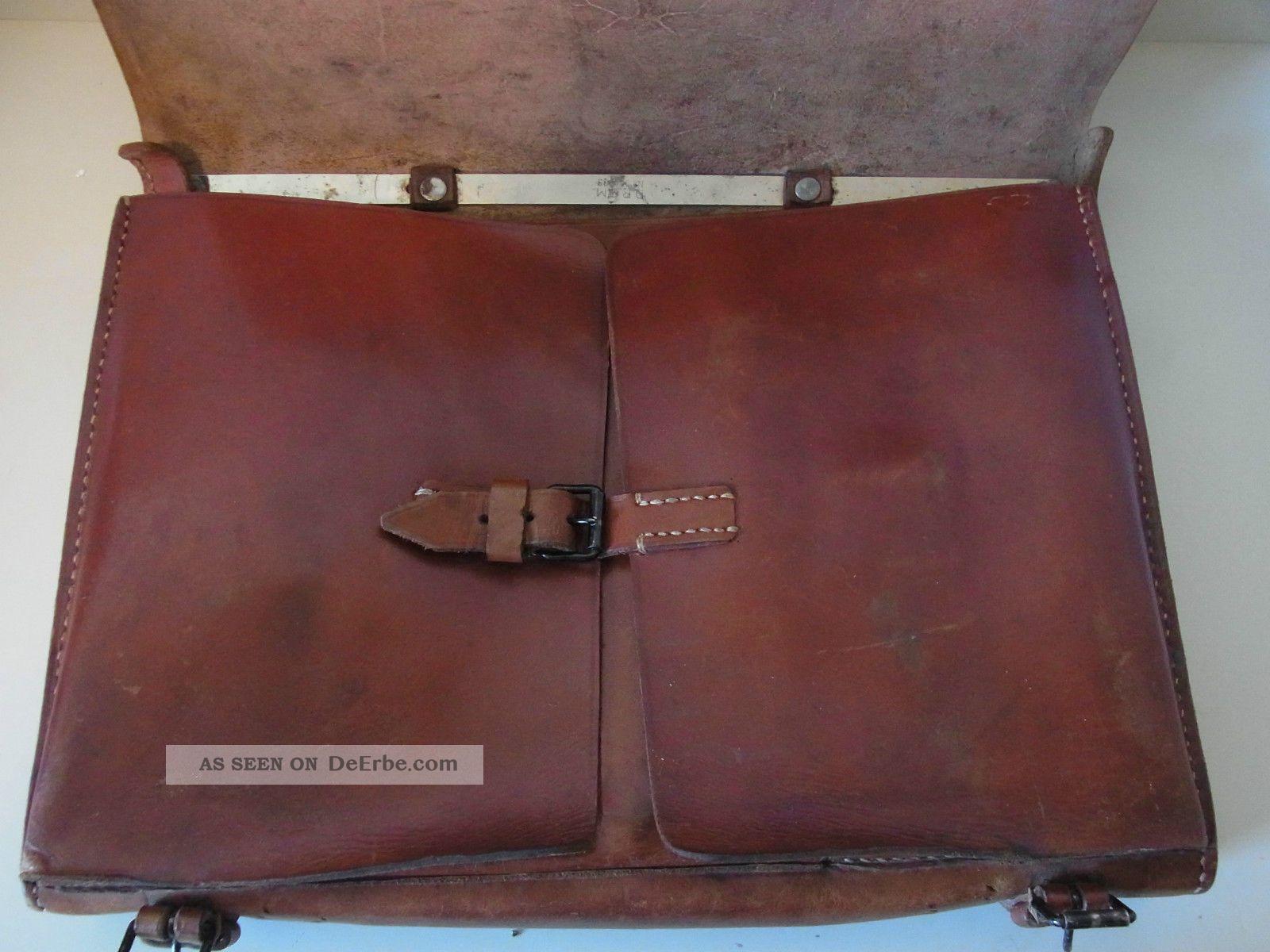 6c2f9db205b14 Dokumentenposttasche Aus 1943   Wehrmacht Aus Hochwertigem Leder Bild
