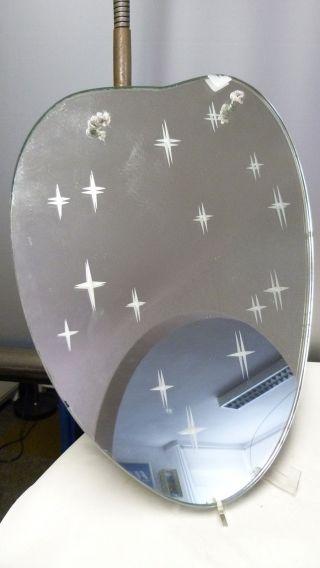 Wand - Spiegel - 50er Jahre - Nierenform - Rockabilly - Wunderschön Mit Sternen Bild