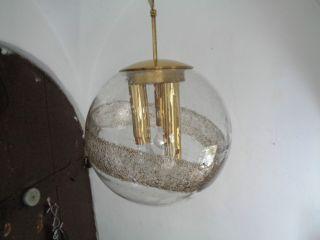 Grosse Stylische 70er J.  Saturn - Glaskugel Hängelampe,  Pendelleuchte,  Doria Bild