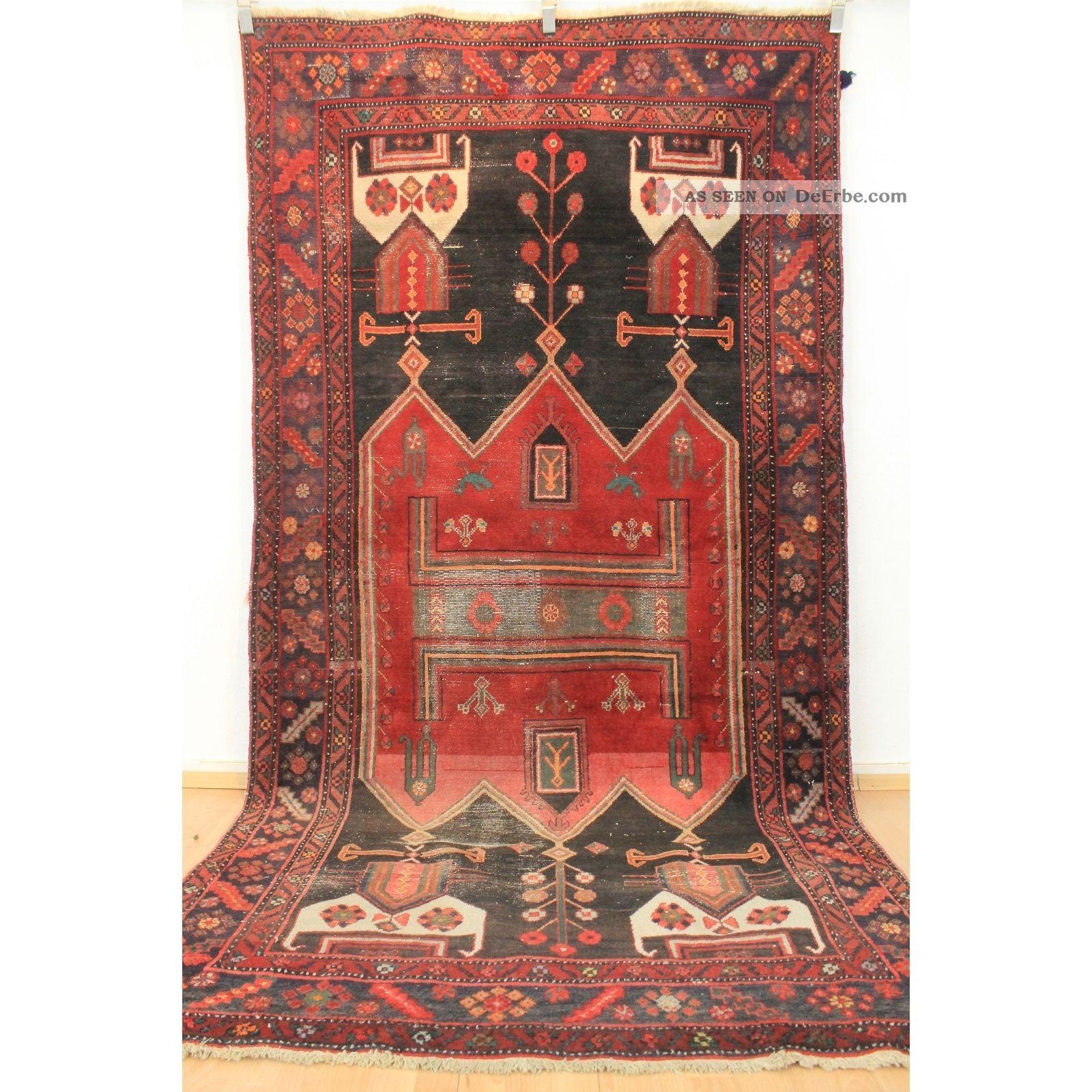 alter kurde malayer orientteppich heriz vintage teppich 290x150cm carpet tappeto. Black Bedroom Furniture Sets. Home Design Ideas