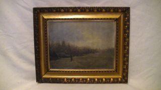 Altes Öl Gemälde,  Landschaft,  Romantiker,  Signiert Im Prunk Gold Holzrahmen Bild