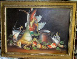 Gemälde Ölgemälde Öl Auf Leinwand Von Wilhelm Ossecki (1892 - 1958),  Jagdzimmer Bild