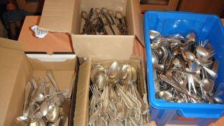 Silberschrott Ca.  20400 Gramm über 20 Kilo,  90er Und 100er,  Auch Fächermuster Bild