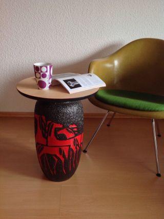 Couchtisch Diy Vintage Coffee Table 50er - 60er Jahre Fat Lava Scheurich Roth Vase Bild