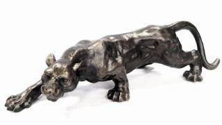Tierskulptur Panther Tierfigur Raubtier Grosskatze Guss Bild
