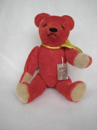 Grisly Teddy In Rot 400/25,  25cm 5 - Glidrig Bild