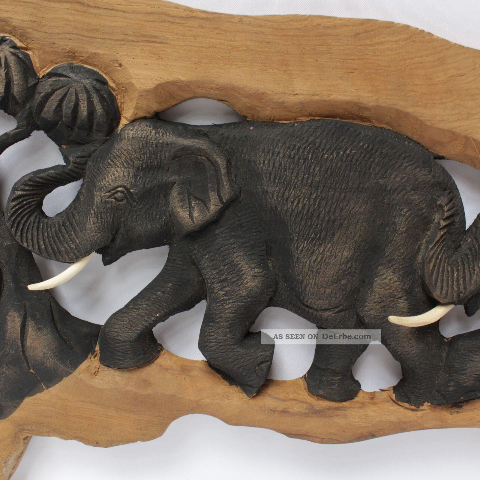 elefantenfamilie elefant holz baumstamm wandbild relief. Black Bedroom Furniture Sets. Home Design Ideas