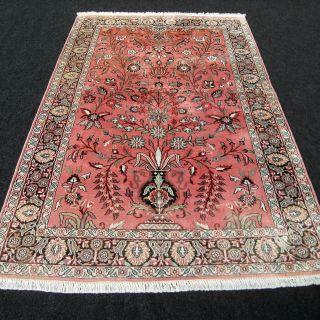 Orient Teppich Seidenteppich Kaschmir 183 X 123 Cm Seide Silk Kashmir Carpet Rug Bild