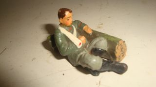 Seltene Elastolin,  Lineol,  Militär Masse Figur,  Lazarett Soldat Zu 7,  5cm Rar Bild