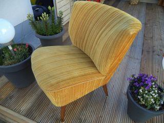1 Cocktailsessel Lounge Sessel 50er Jahre Bezug Lieferung Möglich Bild
