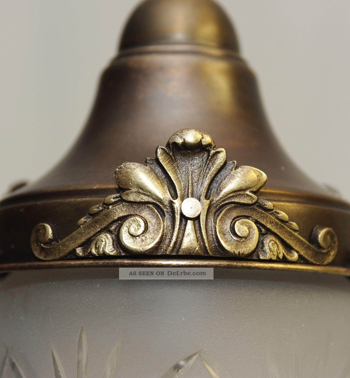 um 1920 art deco lampe deckenlampe pendelleuchte messing. Black Bedroom Furniture Sets. Home Design Ideas