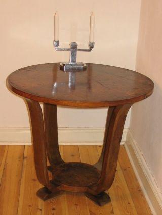 Antiquität: Runder Tisch Französisch,  Art Deco Jugendstil Bild