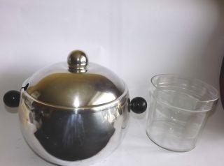Quist Bowle Bowlegefäß Mit Glaseinsatz Champagnerkühler Versilbert D: 40 Cm Bild