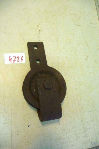 Nr.  4726.  Alte Umlenkrolle Eisen Umlenkrolle Old Cast Iron Barn Pulley Bild
