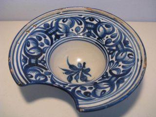 Alte Rasierschale Barbier ' S Basin Spanien 25cm Espana Lustre Pottery Bowl Schale Bild