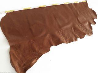 Lederhaut Leder Reh Braun 115x70 1,  4mm Blankleder Kuh Fell Sattel Büffel Rind Bild