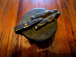 Antiker Nürnberger Gewichtssatz,  Topfgewicht,  Einsatzgewicht,  Messing Apotheker Bild