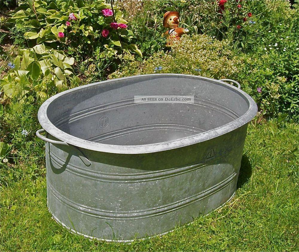 Badewanne Im Garten Bilder : Alt zinkwanne pflanzkuebel badewanne sektkuehler gartenteich