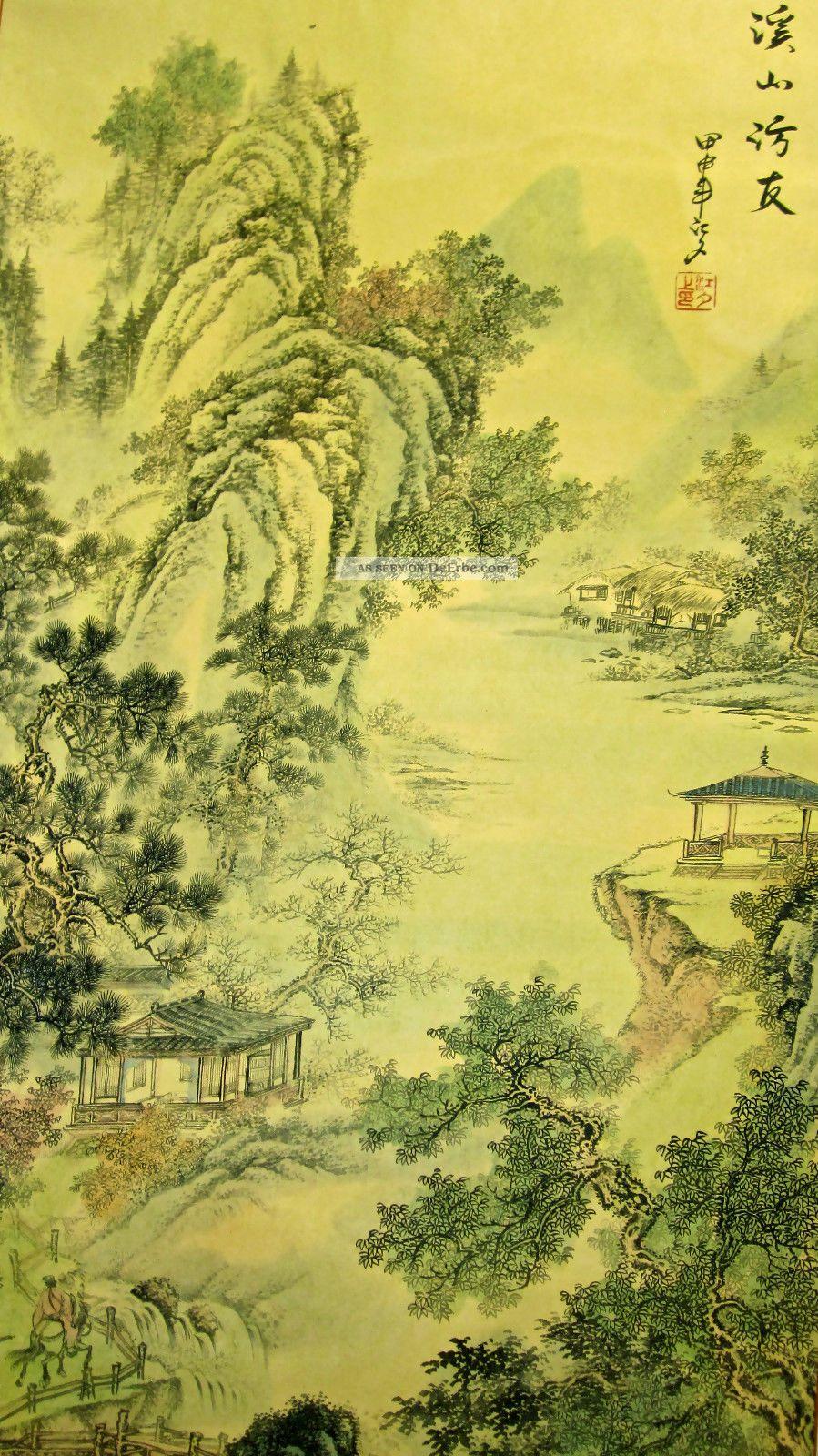 Malerei Chinesische Malerei Malereien Landschaftsmalerei Rollenbilder AAA