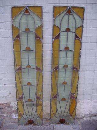1 Paar Bleiglas - Scheiben 133x30.  5 Bild
