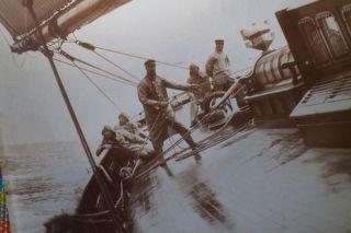 Auf Yacht Hamburg Alte Photographie Vintage Photography Segeln Sailing Picture Bild