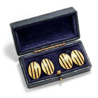 750 Gold Manschettenknöpfe Von Paul Lévy Aus Paris,  1920er Jahre / Cufflinks Bild