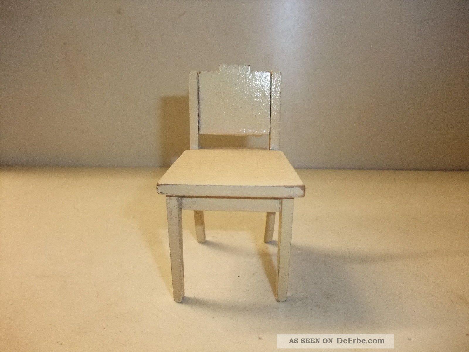 puppenstube kaufmannladen m bel alter stuhl k chnstuhl. Black Bedroom Furniture Sets. Home Design Ideas