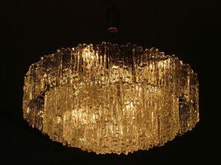 Kalmar Franken Eisglas Lechter Lampe Lüster 15x Birnen 60x Ice Glass 23kg Eames Bild