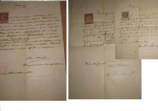 1892/1912 Drei Zeugnisse FÜr Eine KÖchin (mit Stempelmarken) Bild