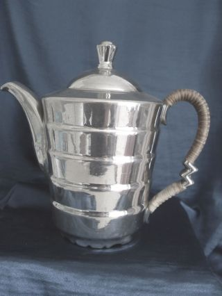 Rosenthal Kaffeekanne Teekanne Porzellan Mit Feinsilber Bild
