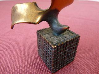 Antiquitäten & Kunst Metallobjekte Schöne Alte Bronzefigur Uhu