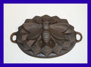 Sehr Seltene Backform Aus Gusseisen - Biene - 3,  7 Kg Schwer (4623) Bild