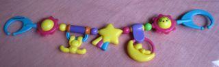 Wunderschöne Rasselkette Für Den Kinderwagen/ Puppenwagen Bild