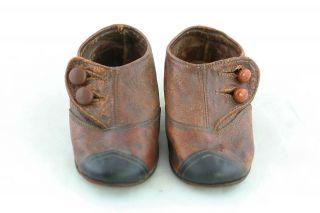 Alte Kinder Schuhe Leder Größe 17,  Total Süß,  Um 1900 Bild