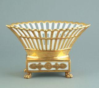 Empire Klassizismus Porzellan Korb 1830 Paris Frankreich Schale Bild