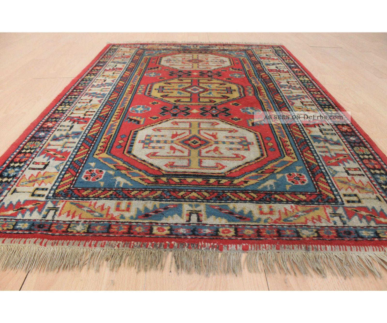 sch ner gewebter orient teppich kazak motiv carpet rug 150x100cm carpet tappeto. Black Bedroom Furniture Sets. Home Design Ideas